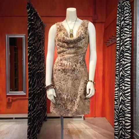 Faux furry wild animal dress by Grace. Size XS. $36.