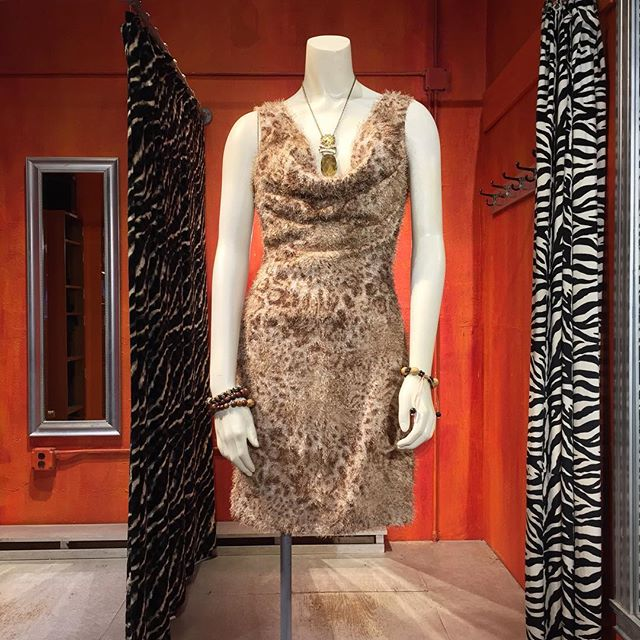Faux furry wild animal dress by Grace. Size XS. $36.