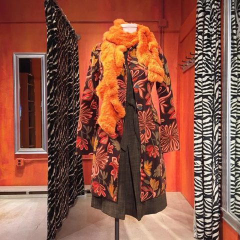 Fall fashion is peaking at Revolution. Benetton velvet flower power coat. Size Small. $59. Rabbit scarf sold separately.