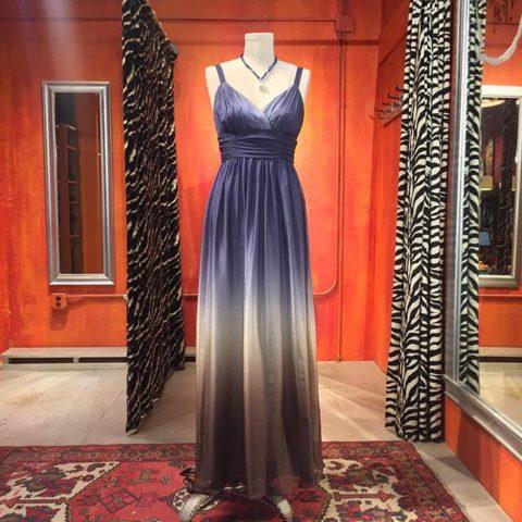 A.B.S. Evening silk ombré gown. Size 4. $69.