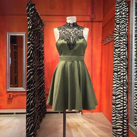 Lace bodice dress by L'Atiste. Size 6-8. $44.