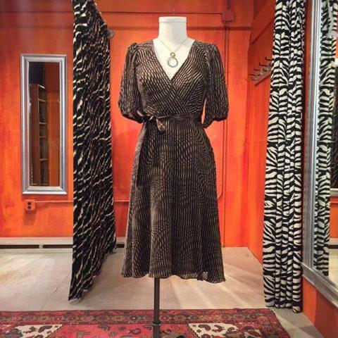 Betsey Johnson silk velvet crossover dress. Size 8. $69.