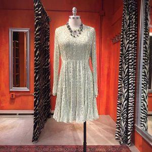 Mega sparkle celadon beaded dress by asos UK. Size 14. $79.