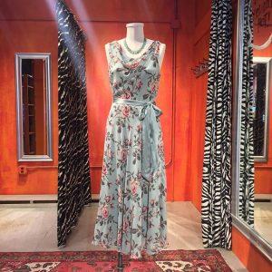 Antique rose print silk dress from Banana Republic. Size 6. $49.