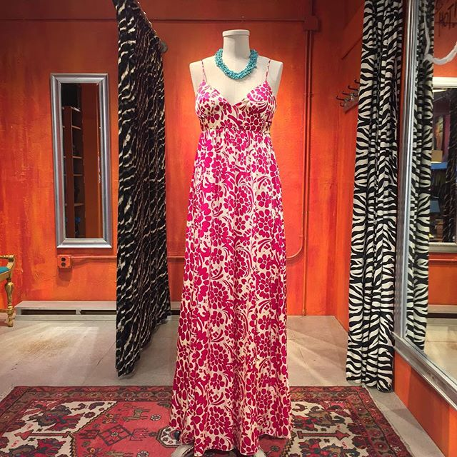 Summer weddings? We've got that. Silk maxi dress by Laundry. Size 6. $59.