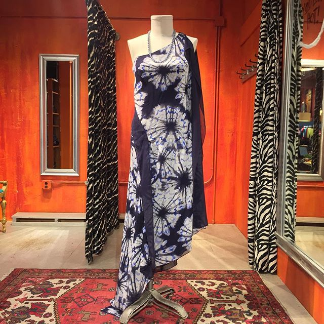 Dyed silk gown by BCBG Maxazria Runway. Size Medium. $79.