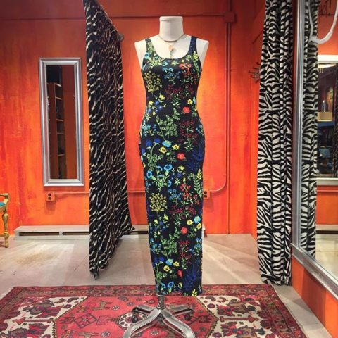 Versace Jeans Couture garden print maxi dress. European Size 42. $149.
